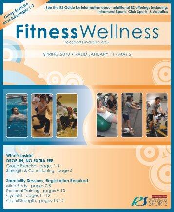 Fitness Wellness Program (PDF) - IU Campus Recreational Sports