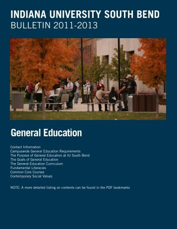 General Education Requirements - Indiana University South Bend