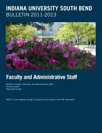 Administration and Faculty - Indiana University South Bend