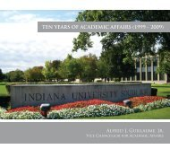 ten years of academic affairs (1999 - 2009) - Indiana University ...
