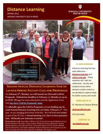 Distance Learning - Indiana University South Bend