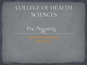 COLLEGE OF HEALTH SCIENCES Pre-Nursing - Indiana University ...