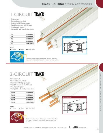 Advent lytespan 1 and 2 circuit track 6101 lightolier 1 circuit track elite lighting aloadofball Choice Image