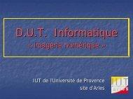 Présentation PowerPoint du DUT informatique - IUT d'Arles