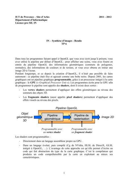 Objet Ga C Oma C Trique 3d Pipeline Ga C Oma C Trique Pipeline Iut D Arles