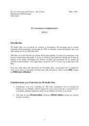 IN CC - TP N°1 - IUT d'Arles