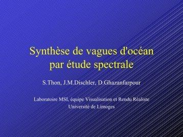 Synthèse de vagues d'océan par étude spectrale - IUT d'Arles