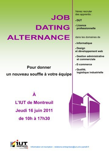 job dating alternance iut annecy
