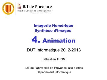IN - Chapitre 4 - Animation - IUT d'Arles