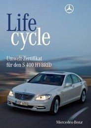Umwelt-Zertifikat Mercedes-Benz S 400 HYBRID - Daimler