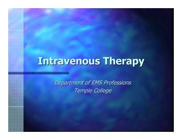 Intravenous Therapy - IV-Therapy