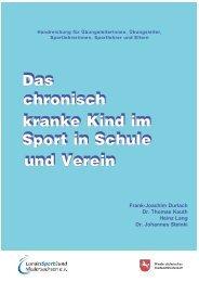 Das chronisch kranke Kind im Sport in Schule und Verein