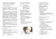 Informationsveranstaltung Tic und Tourette sowie Workshop für ...