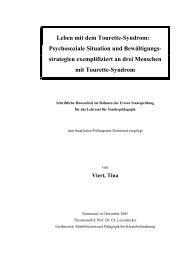 Leben mit dem Tourette Syndrom - InteressenVerband Tic und ...