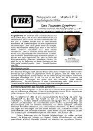 Josef Klein - InteressenVerband Tic und Tourette Syndrom eV