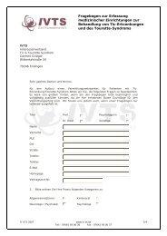 Fragebogen zur Erfassung medizinischer Einrichtungen zur ...