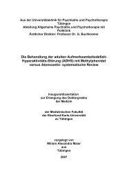 (ADHS) mit Methylphenidat versus Atomoxetin - TOBIAS-lib ...