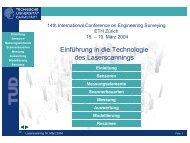 Einführung in die Technologie des Laserscannings - ETH Zürich