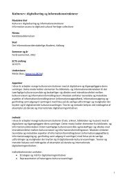 Kulturarv: digitalisering og informationsstrukturer - Det ...