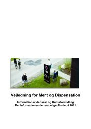 Vejledning for Merit og Dispensation - IVA
