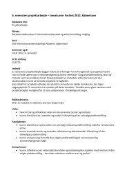 6. semesters projektarbejde – temakurser Foråret 2012, København