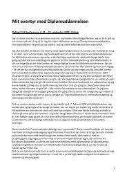 personlig beretning om diplomuddannelsen - IVA
