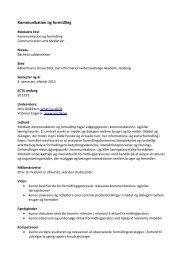 Kommunikation og formidling - IVA