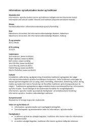 Informations- og kulturstudiers teorier og traditioner - IVA
