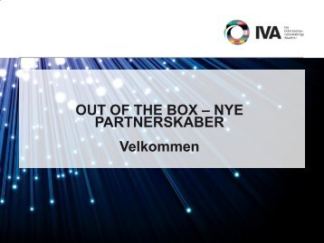 OUT OF THE BOX – NYE PARTNERSKABER