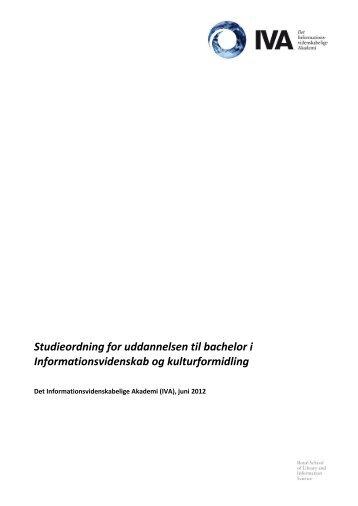 studieordningen for informationsvidenskab og kulturformidling