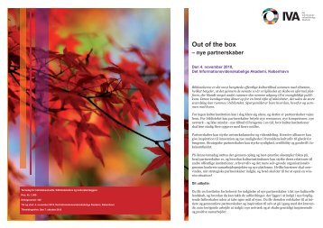 Out of the box – nye partnerskaber - IVA