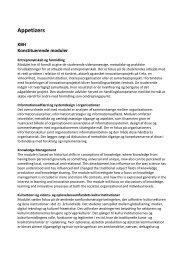 Se kort beskrivelse af konstituerende moduler Kbh - IVA