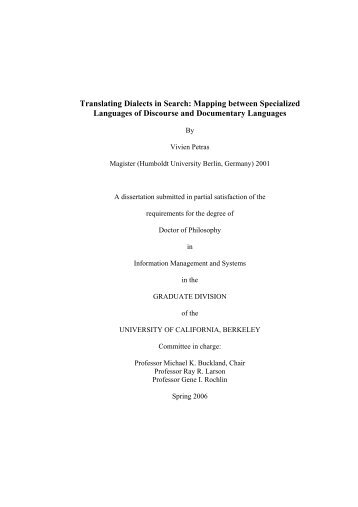 Translating Dialects in Search: Mapping between Specialized ... - IVA