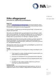 Aftagerpanelets kommissorium og forretningsorden - IVA