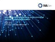 Min faglige profil og interesser - IVA
