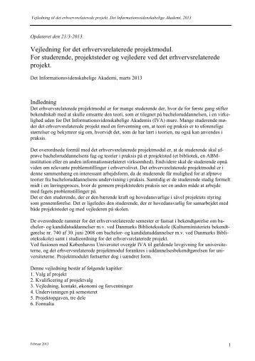 """Kogebog"""" for studerende, projektbiblioteker og vejledere - IVA"""
