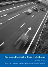 Reduction Potential of Road Traffic Noise - IVA