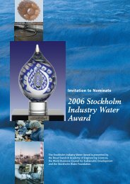 Invitation to Nominate 2006 Stockholm Industry Water Award - IVA