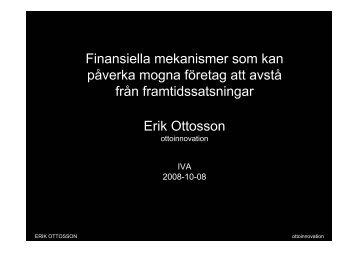 Erik Ottosson - IVA