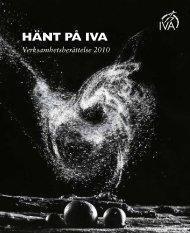Verksamhetsberättelse 2010 - IVA