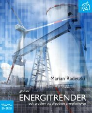 Globala energitrender – och problem att tillgodose - IVA