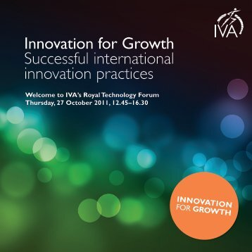 Innovation for Growth Successful international innovation ... - IVA