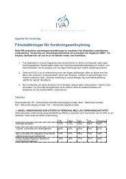 Förutsättningar för forskningsanknytning - IVA