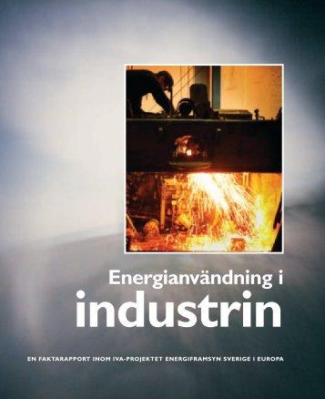 Energianvändning i industrin - IVA
