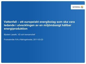 Øystein Løseths presentation - IVA