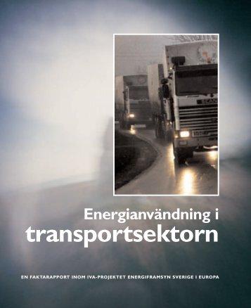Energianvändning i transportsektorn - IVA