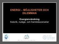 Energi – Möjigheter och dilemman - IVA