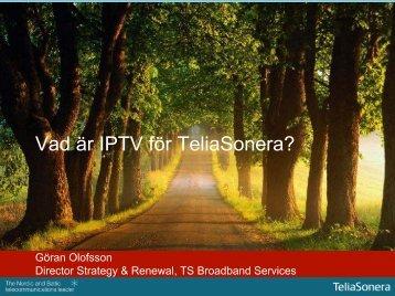 Vad är IPTV för TeliaSonera? - IVA