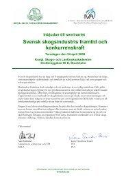Inbjudan till konferens - IVA