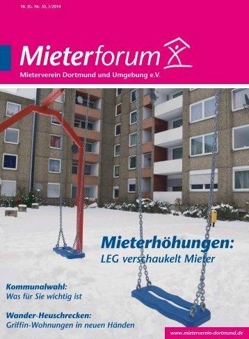 Mieterforum Dortmund - Ausgabe I/2014 (Nr. 35)